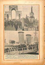 Albert Lebrun prince de Galles of Wales cimetière de Thiepval 1932 ILLUSTRATION