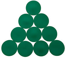 1 SET OF 10 GREEN FLAT RUBBER DISC SPOT MARKERS INDOOR SOCCER FUTSAL BASKETBALL