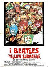 The Beatles Yellow Submarine Movie Poster Authentic Original Italian Edition1968