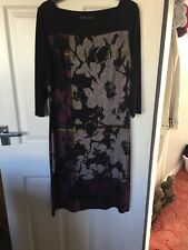 M&S COLLECTION SHIFT DRESS BLACK MIX SIZE 12