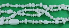 Czech Strung Pressed Glass Bead Mixes-Opaque White Mix