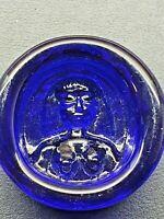 dish /ashtray Blue Erik Hoglund maiden Swedish art glass Kosta boda Sweden