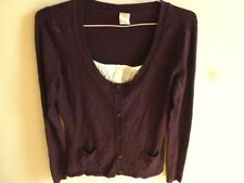 LADIES BUTTON DOWN BURGUNDY LONG SLEEVE JUMPER SIZE 10