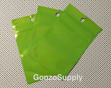 3x5 500pc Glossy Green Zip Lock Mylar Bags-Storage Food Packaging Crafts Tea