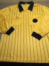 Score by American Soccer Co. Soccer Referee Shirt Yellow/Black Striped 3XL L/S