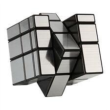 Shengshou 3x3 Irregular Mirror Smooth Magic Cube Blocks Silver Twist Puzzle Toy