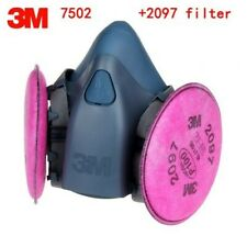 3M 7502 Half Facepiece Respirator W/ 1 Pair 2097 P1OO Filters, Size MEDIUM