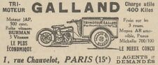 Y9937 Tri-Moteur GALLAND 500 cmc. - Pubblicità d'epoca - 1931 Old advertising