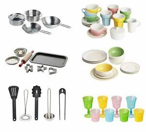 IKEA Duktig kids Children's Kitchen Toy Cups Plate Bowl Cookware Baking Tea Set