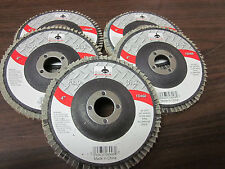 "5pc ALUMINUM OXIDE 60-GRIT 4"" SANDING GRINDING WHEEL FLAP DISC 5/8"" ARBOR ~ NEW"