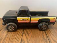"Rare Vintage Original Tonka Black Pick Up Truck Pressed Steel 14"" Long 1970/80's"
