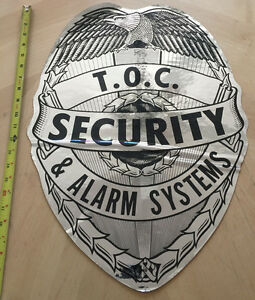 T.O.C. PRIVATE SECURITY & ALARM SYSTEMS POLICE COP  CAR DOOR SHIELD DECAL *