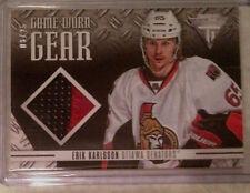 12-13 Titanium Game Worn Gear Patch Erik Karlsson 8/25-Ottawa Senators Superstar