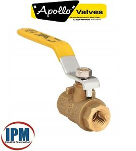 "FACTORY NEW!  Apollo 94A-106-01 Brass Ball Valve, 1-1/4"" FNPT Inline Full Port"