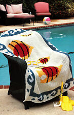 AQUATIC Fish in The Sea Afghan Crochet Pattern INSTRUCTIONS ONLY