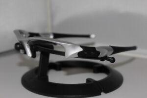 New Oakley Flak Jacket 1.0 Silver Frame Only Asian Fit 03-884J