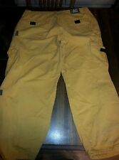 Men's size 40 AC Jean's American colors mustard yellow cargo pants 90s hip hop