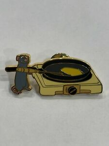Loungefly Disney Ratatouille Food Series Pins - Remy Frying Eggs - Opened