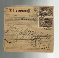 1923 Berlin Germany Stockholm Sweden Multi Franking Inflation Postcard Cover