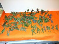 Vintage Toy Soldiers Army Men Plastic War Green Lot of 100 Unbranded