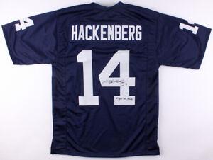 "Christian Hackenberg Signed Penn State Nittany Lions Jersey ""Fight on State"" JSA"