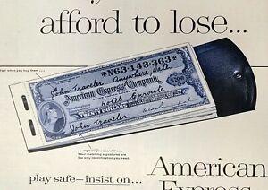 1957 American Express Travelers Checks Loss Refund Emergencies Vintage Print Ad