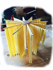 Round Pasta Drying Rack, sets up quickly, stores easily.
