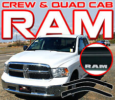 2009-2017 Ram Quad/Crew Cab Front Door Window Visor Deflectors - Vent Shades 2pc