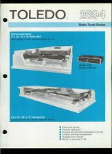 Super Rare Vintage Original Toledo Scale Brochure: 2694 Motor Truck Scales