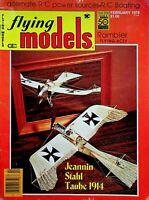 Vintage Flying Models Magazine February 1978 Jeannin Stahl Taube 1914 m270