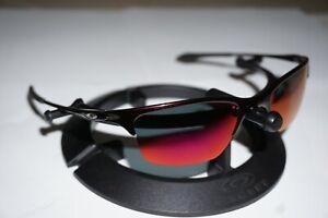 Oakley Half Wire Sunglasses Red Oxide Frames Polarized Lenses XL 05-735