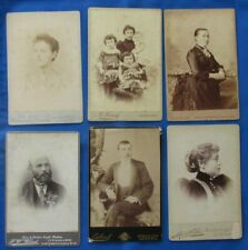 Cabinet Cards x 6 LONDON Different photographers