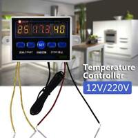 12/220V 10A Digital LED Temperature Controller Thermostat Control Switch Probe