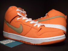 2013 Nike Dunk High Pro SB URBAN ORANGE BAMBOO GREEN WHITE GOLD 305050-801 8.5