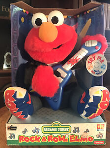 Vintage 1998 Fisher Price Rock and Roll Elmo New in Box