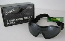 BRITISH ARMY STYLE COMMANDO AIR PRO AIR SOFT GOGGLES BLACK SMOKE LENSES