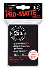 60 Count Black Matte Yugioh Vanguard Sized Card Deck Protector Sleeves Storage