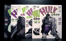 COMICS: Marvel: Hulk Gray #1-6 (1990s) set - RARE (figure/ironman/statue/thor)