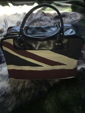 Ben Sherman Union Jack Duffle Bag, Navy, PVC Material