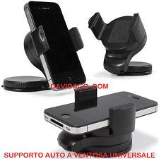 SUPPORTO AUTO PER APPLE SAMSUNG LG SONY NOKIA HTC VENTOSA 360 GRADI UNIVERSALE