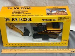 JCB JS330L Precision Diecast Model Crawler Excavator Diecast Model NIB Joal 1:35