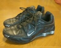Nike Shox Turbo 3.2 SL Men's Sz 11.5 Oakland Raiders Shoes Black Silver - Rare