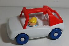Vtg Little People Tikes Toddle Tots White T top Family Car Chunky Figure Lot