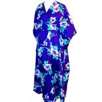 Royal Creations Aloha Hawaii One Size MuuMuu Kaftan Hawaiian Luau Wedding Kimono