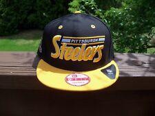 NFL PITTSBURGH STEELERS New Era 9Fifty Original Fit SNAPBACK Hat~Size~OSFM