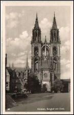 MEISSEN Meißen Elbe Sachsen um 1940 Burghof mit Dom Kirche Postkarte ungelaufen