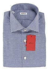 NEW 2018 KITON NAPOLI SHIRT LINEN AND COTTON SIZE 17 US 43 EU 18KTW117
