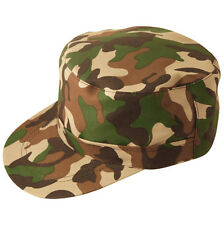 ARMY CAMOUFLAGE  CAP UNISEX ADULT SIZE FOR ARMY THEME FANCY DRESS.