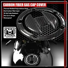 04-16 GSXR-600/750/1000 REAL CARBON FIBER GAS CAP FUEL LID COVER PROTECTION PAD