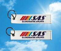 SAS Scandinavian Airlines old logo Keychain Keyring Baggage Luggage tag